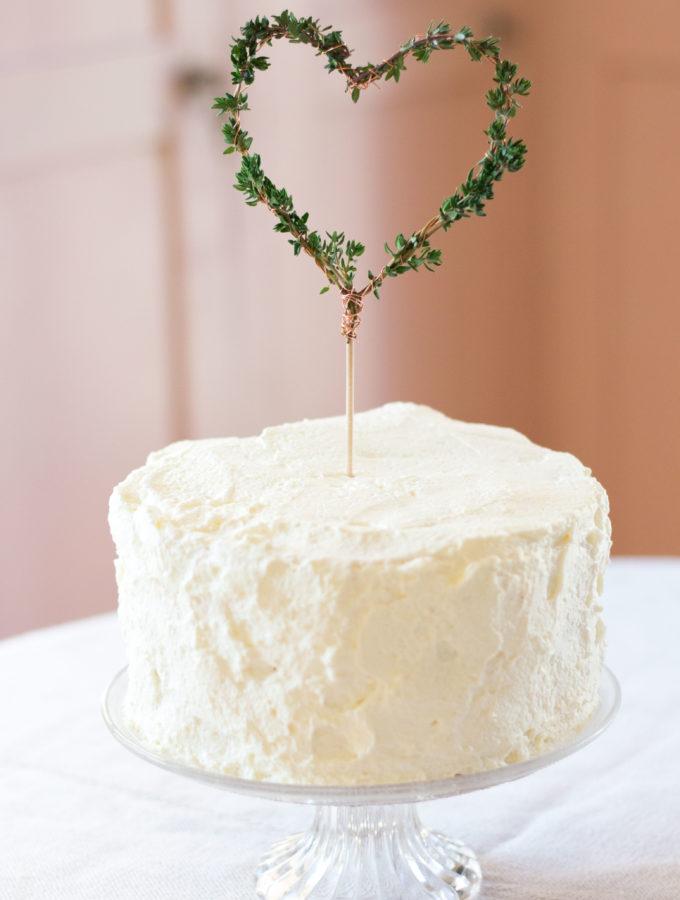 Cake-Topper: Thymian-Herz