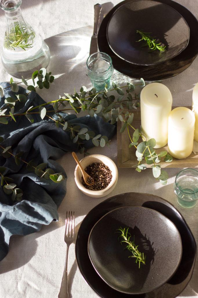 Tischdeko Menü mediterran Tischdekoration